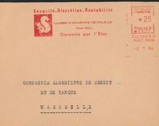 Eichhörnchen Securite Discretion Rentabilite Caisse Espargne Colmar Haut Rhin  -  B061 - Storia Postale