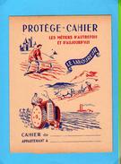 PROTEGE CAHIER  : Les Metiers D´Autrefois Et Aujourd´hui LE LABOUREUR Tracteur - Protège-cahiers