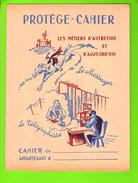 PROTEGE CAHIER : Les Metiers D´Autrefois Et D´Aujourd´hui :LE MESSAGER  Telephone Cheval - Protège-cahiers