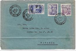 España. Carta Circulada Desde Madrid A Bayona Con Sello Del Centenario Del Sello - 1931-Hoy: 2ª República - ... Juan Carlos I