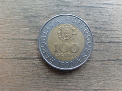 Portugal  100  Escudos  1990  Km 645 - Portugal