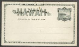 Hawaï Hawaii Carte Card Entier Postal 2c Noir 1881 BE - Hawaii