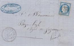 FRANCE :  Cérès 60 Sur LaC   CaD Perlé Du 03 05 1875   GC  4276  VILLES SUR AUZON  (86) - Storia Postale