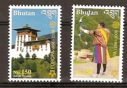 Bhutan Bhoutan 2006 Yvertn°  1800-1801 *** MNH  Cote 25 Euro 50 Ans Europa 50 Jaar - Bhoutan