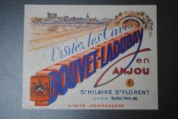 Publicité Ancienne Visitez Les Caves BOUVET LADUBAY En Anjou à Saint Hilaire Saint Florent Près Saumur - Alcohols
