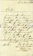 LETTRE SIGNEE PAR Maisonneuve à Nantes 1818 Pour Mr MAGON DE LA LANDE à SAINT MALO B.E.V.SCANS + HISTORIQUE - Manuscrits