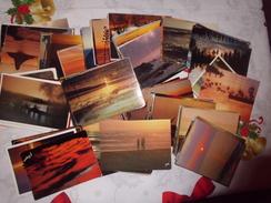 LOT DE 220 CARTES ...COUCHERS DE SOLEIL ...BORDS DE MER PRINCIPALEMENT - 100 - 499 Cartes