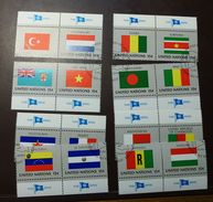 UNO NY Flaggen Satz 348 -63  Gestempelt Paare   #4688 - Briefmarken