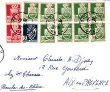 ALGERIE - 1956 LETTRE ORAN POUR AIX-EN-PROVENCE - Algeria (1924-1962)
