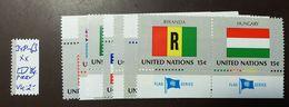 UNO NY Flaggen Satz 348 -63  ** MNH  Paare Wagrecht   #4690 - Briefmarken