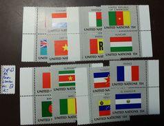 UNO NY Flaggen Satz 348 -63  ** MNH  Paare Senkrecht   #4690 - Briefmarken