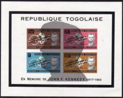 Togo, 1964, Kennedy, Lincoln, Shadowed Profile, MNH, Michel Block 13 - Togo (1960-...)