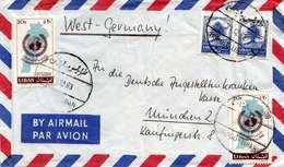 LIBANON 1963 - Brief 4 Fach Frankiert, Gel.v. Tripoli Nach München - Libanon