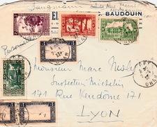 ALGERIE  1937 LETTRE ORAN POUR LYON - Algerien (1924-1962)