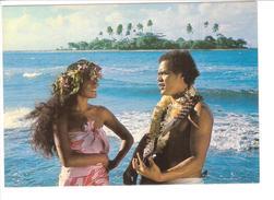 POLYNESIE FRANCAISE.....COUPLE DE POLYNESIENS...PHOTO SYLVAIN - Polinesia Francese