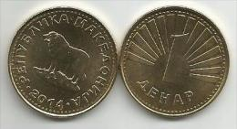 Macedonia 1 Denar 2014. UNC - Macédoine