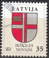 Latvija 2011 Michel 801 O Cote (2013) 1.00 Euro Armoirie Ikškiles Novads Cachet Rond - Lettonie