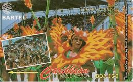 CARTE-BARBADE-ANTILLES-BDS-20$-MAGNETIQUE-CROP OVER 1995