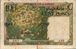DJIBOUTI Cote Française Des SOMALIS 100 FRANCS Du 1952nd  Pick 26 - Djibouti