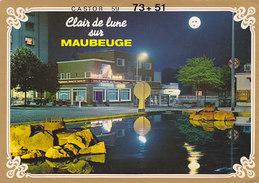 QSL Card Radio Amateur CB Station France Castor 59 - Clair De Lune Sur Maubeuge - Radio Amatoriale