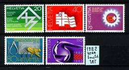SVIZZERA - HELVETIA - Year 1982 - COMPLET  SET - Nuovi - News - MNH**. - Svizzera
