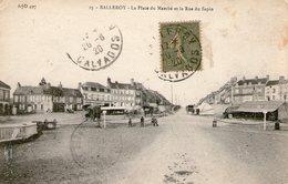 (2) CPA  Balleroy  Place Du Marche Rue Du  Sapin  (bon Etat) - Autres Communes