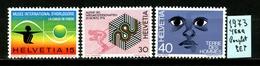 SVIZZERA - HELVETIA - Year 1973 - COMPLET  SET - Nuovi - News - MNH**. - Svizzera