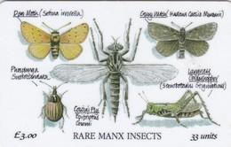 Isle Of Man, MAN 080,  3 £, Manx Insects, 2 Scans. - Isla De Man