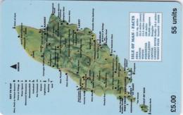 Isle Of Man, MAN 084,  5 £, Map Isle Of Man, 2 Scans.