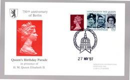 Great Britain  Queen Birthday Parade H.M. Queen Elisabeth II FDC 1987 750th Anniversary Of Berlin - 1952-.... (Elizabeth II)