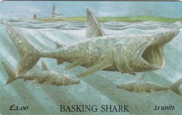 Isle Of Man, MAN 086,  2 £, Basking Shark, 2 Scans. - Isla De Man