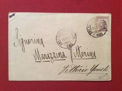 AMBULANTE CALALZO VENEZIA  188 SU BUSTA PER VITTORIO VENETO IL 28/8/24 - 1900-44 Vittorio Emanuele III
