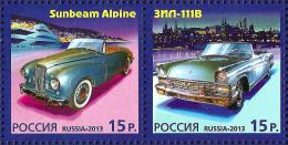 Russia - 2013 - History Of Car Building - Joint Issue With Monaco - Mint Stamp Set - 1992-.... Federation