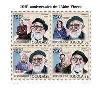 Togo 2012, Abbe Pierre, De Gaulle, Einstein, 4val In BF