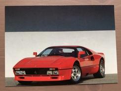 Cartolina Ferrari 288 GTO Con Annullo Sul Retro Trofeo Enzo Ferrari Int. Giov. Calcio Maranello 1-4-1991 - Grand Prix / F1