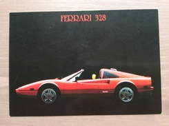 Cartolina Ferrari 328 Con Annullo Sul Retro Trofeo Enzo Ferrari Int. Giov. Calcio Maranello 1-4-1991 - Grand Prix / F1