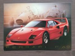 Cartolina Ferrari F 40 Con Annullo Sul Retro Trofeo Enzo Ferrari Int. Giov. Calcio Maranello 1-4-1991 - Grand Prix / F1