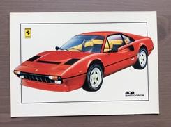 Cartolina Ferrari 308 Con Annullo Sul Retro Trofeo Enzo Ferrari Int. Giov. Calcio Maranello 1-4-1991 - Grand Prix / F1