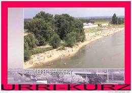TRANSNISTRIA 2008 Bendery River Dniester Beach View From Bridge Postcard Card Mint - Moldova