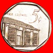 § COLONIAL HOUSE: CUBA★5 CENTAVOS 2000 COIN Alignment ↑↓ CONVERTIBLE PESO! LOW START★NO RESERVE! - Cuba