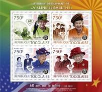 Togo 2012,Queen Elizabeth Jubilee, Kennedy, Mandela, Beatles, 4val In BF - Muziek