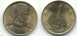 Chile - 1990 - 1 Peso - KM 216.2 - Unc - Chile