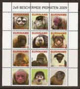 Surinam / Suriname 2009 Aap Apen Monkey Ape Affen Singe MNH - Apen