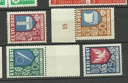 Estland Estonia Estonie 1940 CARITAS Michel 152 - 155 MNH - Estonie