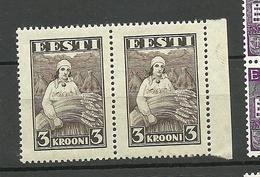 ESTONIA 1935 Harvesting Michel 108 In Pair MNH - Landwirtschaft
