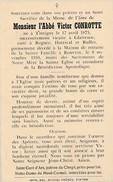 Mortuaire, L'abbé Victor Conrotte Né Tintigny 1875,cure Glaireuse,Regnée,Hartival Et Rulles;Rouvroy 1959 - Décès