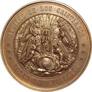 ESPAÑA. ALFONSO XII. MEDALLA CONMEMORATIVA MILENARIO DE LA VIRGEN DE MONTSERRAT. 1.880. ESPAGNE. SPAIN MEDAL - Profesionales/De Sociedad