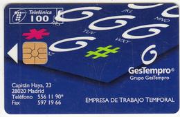 SPAIN - GesTempro, Tirage 6100, 01/97, Used - España