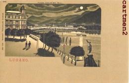 LUGANO PIAZZA GUGLIELMO TELL. SUISSE ITALIA 1900 - TI Tessin