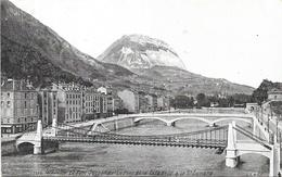 GRENOBLE - 38 - Le Pont Suspendu, Le Pont De La Citadelle Et Le Saint Eynard  - ENCH1612 - - Grenoble